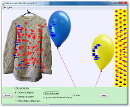 Screenshot of the simulation Ballons et Electricité statique