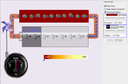 Screenshot of the simulation Sirkuit Baterai-Resistor