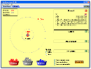 Screenshot of the simulation Stavba atomu