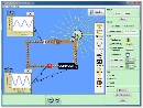 Screenshot of the simulation Kit de construccion de circuitos (CA y CC)