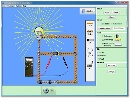 Screenshot of the simulation Kit de construccion de circuitos (sólo CC)