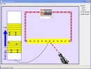 Screenshot of the simulation Conductivitate