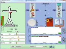 Screenshot of the simulation Comer & Exercitar-se