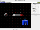 Screenshot of the simulation Magneter og elektromagneter