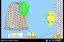Screenshot of the simulation 氣球和靜電引力_Balloons and Static Electricity
