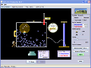 Screenshot of the simulation Balóns e Flotabilidade