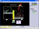 Screenshot of the simulation Vratné reakce