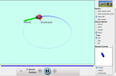 Screenshot of the simulation Movimiento de Mariquita en 2D
