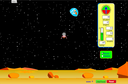 Screenshot of the simulation Aterrizaje Lunar