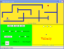 Screenshot of the simulation Labirintus jtk
