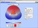 Screenshot of the simulation Molecule Polarity