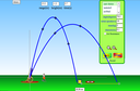 Screenshot of the simulation projectile-motion
