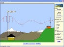 Screenshot of the simulation Radiogolven