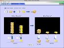 Screenshot of the simulation Reactivos, Productos y Sobrantes