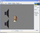 Screenshot of the simulation Geluidsgolven