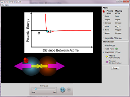 Screenshot of the simulation Interacções Atómicas