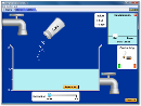 Screenshot of the simulation Sukker og saltopløsninger
