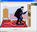 Screenshot of the simulation John TraVolt